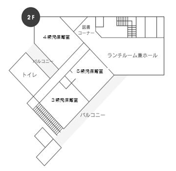ひがし保育園 2Fフロアマップ
